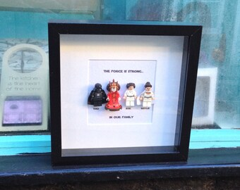 Father's Day Family Star Wars  gift  Replica box frame wall art, Padme, Darth Vader, Luke Skywalker, Princess Leia & more! Dad Daddy Dada