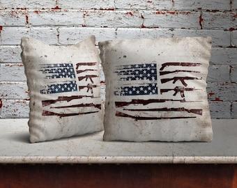 Gun Flag Pillow