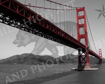 NorCal Color Digital Print - Golden Gate Bridge - San Francisco - California - Bear