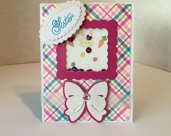 Sister Shaker Happy Easter Card E105