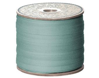 cotton, 200 meter spool, turquoise blue ribbon