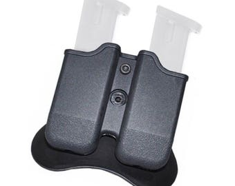 Glock Magazine pouch 9mm Magazine pouch The Ultimate Double Stack Glock Holder with Paddle 9mm and .40 Caliber Magazine Pouch