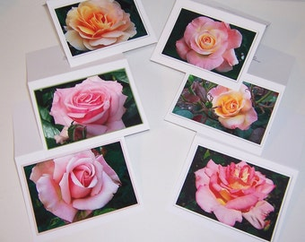 Photo Notecards, Floral Cards, Assorted Rose Cards, Flower Photography