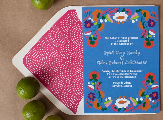 Items similar to Mexican themed wedding invitations for your