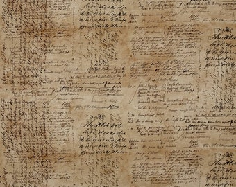 Tim Holtz - Dapper - Script Cursive Writing Fabric PWTH059 BTY