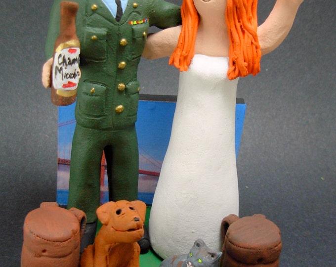 Marine's Wedding Cake Topper, Soldiers Wedding Cake Topper, Military Wedding Cake Topper, Army Wedding Cake Topper, Beret Wedding CakeTopper