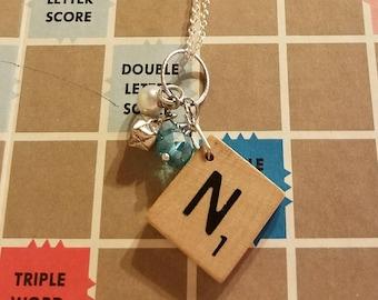 Scrabble tile N necklace