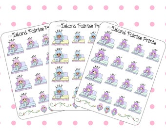 Fairies Lazy Day Tired Planner Stickers (C27 S27 L27)