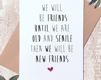 Funny friend card etsy funny friend card funny birthday card best friends forever friendship card friend bookmarktalkfo Choice Image