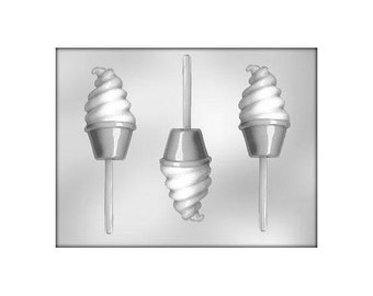 Ice Cream Lollipop Mold, Soft Serve Ice Cream Chocolate Mold, Ice Cream Chocolate Mold