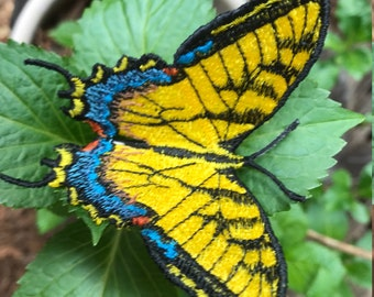 Clip-On Lace Tiger Swallowtail Butterflies