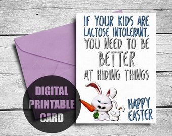 Funny Easter Card | Printable | Easter Card | Happy Easter | Rude Easter Card | Happy Easter Card | Funny | Easter Greeting Card | Bunny