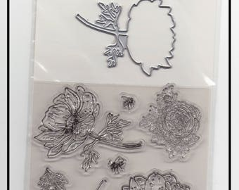 Scrapbooking * Clear Stamps and Dies * clear stamps and dies cuts * Nature garden flowers