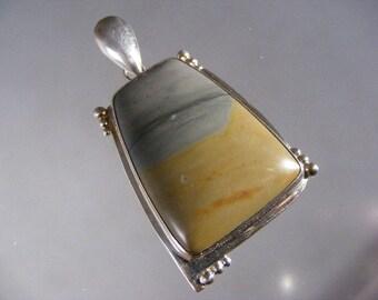 Vintage Large Picture Jasper Pendant in Sterling Silver..... Lot 3747