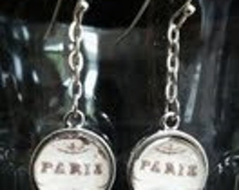 "Paris Earrings.Vintage ""Paris"" meets Modern Chic. Handmade in Brooklyn."