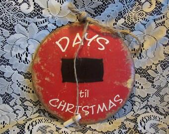 Cuenta regresiva de los días de Navidad Metal vintage