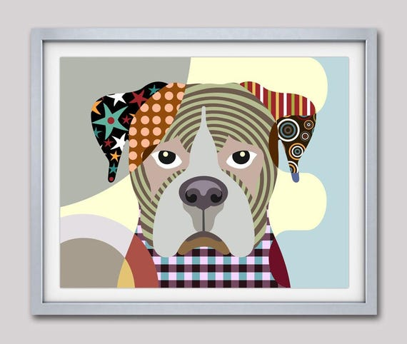 Boxer Dog, Boxer Painting, Boxer Decor, Boxer Dog Art, Boxer Dog Gifts,  Boxer Dog Art Print, Animal Art Print, Animal Decor