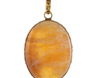 Liquefied Amber Gold Plated Pendant
