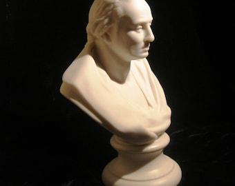 "George Washington bust, parian porcelain 6"""