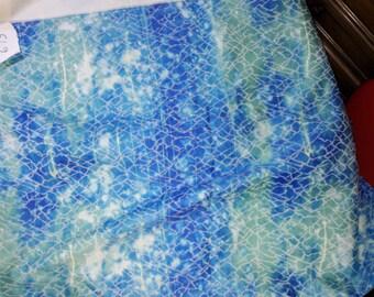 No. 619 fabric in 100% cotton LYCRA stretch blue green BEIGE