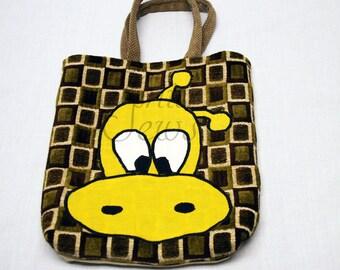 Project Bag Knitting Bag Crochet Project Bag Knitting Embroidery Bag Lined Project Bag Book Bag Travel Bag Giraffe Bag Gift Bag One Off Bags