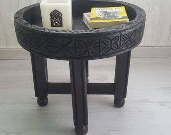 25%OFF**Handmade Moroccan  Table  with Natural bohemian decor Wood  d=40cm h=28 or h=45cm