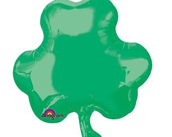 "18"" Green Shamrock Mylar Balloon: Wedding, Shower, 1st Birthday, Baby, Photo Prop, Graduation, Picnic, Spring, Irish, St Patricks Day, Beer"