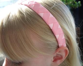 Woven ribbon headband zig zag patern