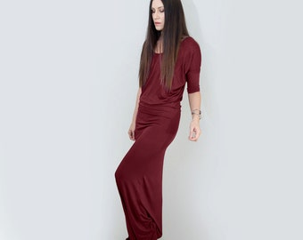 Maxi Dress | Draped Dresses | Women's | Tall Long Length | Boho Clothing | Ethically made in our loft | L415&Co Clothing (#415-414)