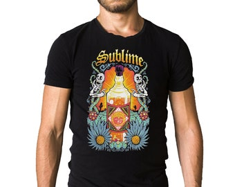 Sublime Sun Bottle Logo Black T-Shirt