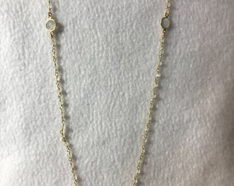 Reiki attuned, affirmation infused Rose Quartz and Rainbow Moonstone necklace