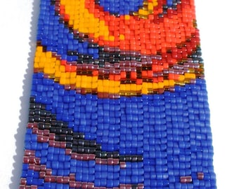 Fire Dance Peyote Stitch Cuff Bracelet