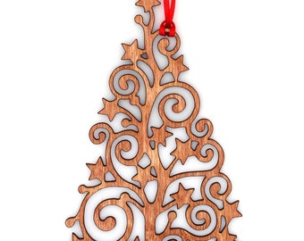 Wooden Star Christmas Tree Ornament