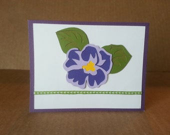 African Violet Note Card