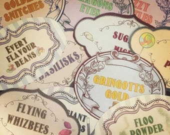 Classic Vintage Sweets and Candy Labels