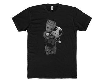 Baby Groot Creepy T MenS Cotton Crew Tee