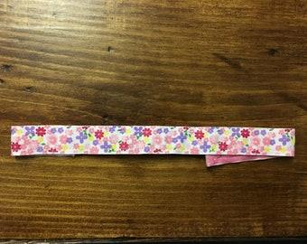 "Flower printed 7/8"" nonslip headband"