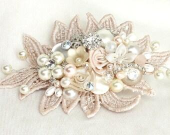 Blush Bridal Comb- Blush Hair Accessories- Bridal Hair Accessories- Blush Comb- Bridal Hairpiece- Blush Hairpiece- Wedding Hair Accessory