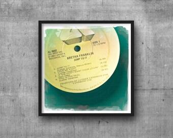 ARETHA FRANKLIN - Jump To It - Record Album Art Photo - Photography Art Print