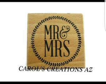 Mr & Mrs Stamp / Wedding Stamp / Marriage Stamp / Bridal Stamp / Bridal Shower Stamp / Invitation Stamp