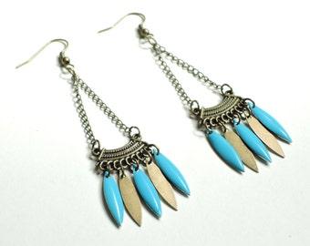 Blue Aztec earrings