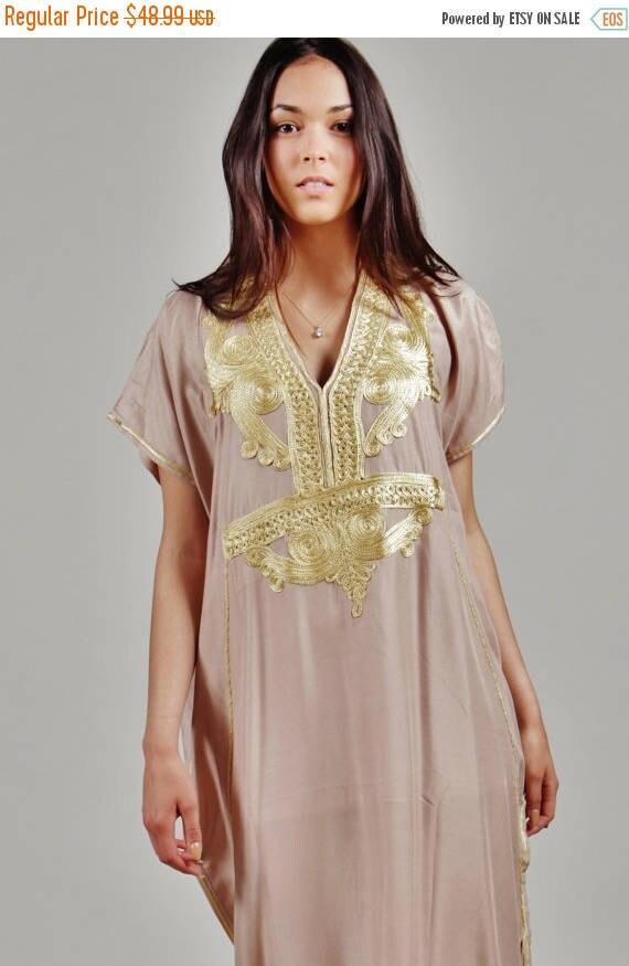 Kaftan Dress Beige Marrakech Resort Caftan Kaftan -  Resort Kaftan, loungewear, maxi dress, birthdays gifts, winter dress, Ramadan, Eid