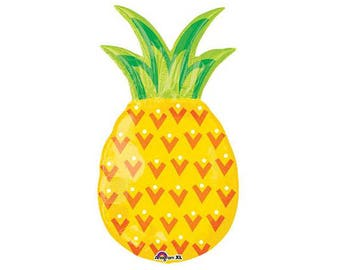 "31"" Pineapple Balloon  l  Pineapple Party Balloon  l  Tropical Party  l  Pineapple Party Decor  l  Pineapple Decor  l  Luau Party"
