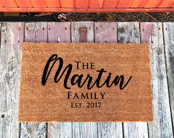 Personalized Wedding Gift, Couple Engagement Gift, Gift For Bride, Bridal Shower Gift, Bride From Groom Gift, Wedding Doormat, Name Doormat