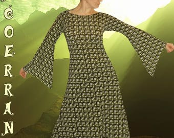 Asymmetrical dress, Bohemian, ethnic dress, tunic dress ' Army Retro...  '