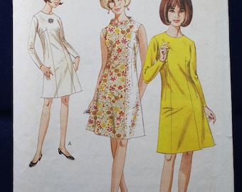 1960's Sewing Pattern for a Woman's Dress in Size 12 - Style 2065