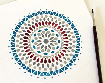 Blue and Red Mandala