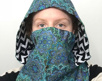 ADD-ON - drawstring for hooded scarves / fire spinning hoods