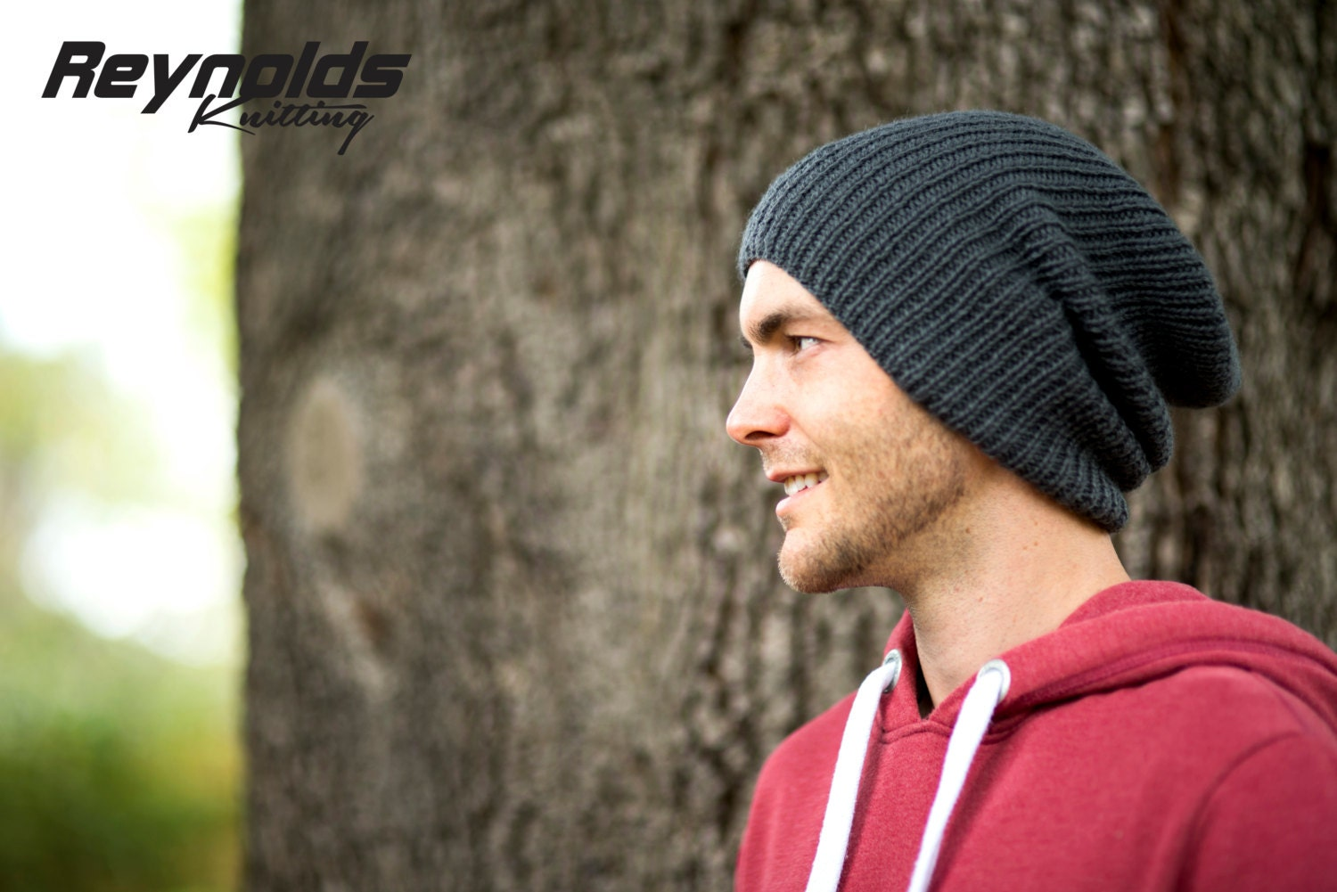 PDF Knitting Pattern - Ribbed Beanie - Winter Slouchy Hat - Men ...