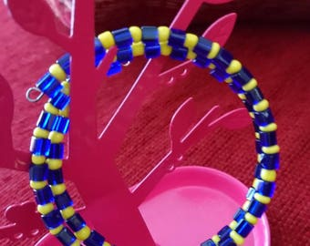 Original yellow and blue Cuff Bracelet gift